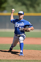 Kansas City Royals pitcher Matt Alvarez (32) during an instructional league game against the Seattle Mariners on October 2, 2013 at Surprise Stadium Training Complex in Surprise, Arizona.  (Mike Janes/Four Seam Images)