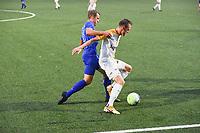 KSV RUMBEKE - KSC WIELSBEKE :<br /> Thomas Coopman (R) en duel met Naigell Vanfleteren (L)<br /> <br /> Foto VDB / Bart Vandenbroucke