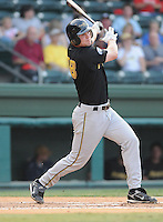 August 18, 2008: Curt Rindal of the West Virginia Power, Class A affiliate of the Milwaukee Brewers, in a game against the Greenville Drive at Fluor Field at the West End in Greenville, S.C. Photo by:  Tom Priddy/Four Seam Images