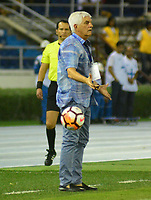 BARRANQUIILLA - COLOMBIA, 05-12-2018: Julio Comesaña, técnico de Junior, gesticula durante el encuentro entre Atlético Junior de Colombia e Atlético Paranaense de Brasil por la final, ida, de la Copa CONMEBOL Sudamericana 2018 jugado en el estadio Metropolitano Roberto Meléndez de la ciudad de Barranquilla. / Julio Comesaña, coach of Junior, gestures during a final first leg match between Atletico Junior of Colombia and Atlético Paranaense of Brazil as a part of Copa CONMEBOL Sudamericana 2018 played at Roberto Melendez Metropolitan stadium in Barranquilla cityAtlético Junior de Colombia y Atlético Paranaense de Brasil en partido por la final, ida, de la Copa CONMEBOL Sudamericana 2018 jugado en el estadio Metropolitano Roberto Meléndez de la ciudad de Barranquilla. /Julio Comesaña, técnico de Junior, gesticula durante el encuentro entre Atlético Junior de Colombia e Atlético Paranaense de Brasil por la final, ida, de la Copa CONMEBOL Sudamericana 2018 jugado en el estadio Metropolitano Roberto Meléndez de la ciudad de Barranquilla. / Julio Comesaña, coach of Junior, gestures during a final first leg match between Atletico Junior of Colombia and Atlético Paranaense of Brazil as a part of Copa CONMEBOL Sudamericana 2018 played at Roberto Melendez Metropolitan stadium in Barranquilla city Atletico Junior of Colombia and Atletico Paranaense of Brazil in Final first leg match as a part of Copa CONMEBOL Sudamericana 2018 played at Roberto Melendez Metropolitan stadium in Barranquilla city.  Photo: VizzorImage / Alfonso Cervantes / Cont