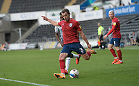 Huddersfield Town's Harry Toffolo whips the ball into the box <br /> <br /> Photographer Ian Cook/CameraSport<br /> <br /> The EFL Sky Bet Championship - Swansea City v Huddersfield Town - Saturday 17th October 2020 - Liberty Stadium - Swansea<br /> <br /> World Copyright © 2020 CameraSport. All rights reserved. 43 Linden Ave. Countesthorpe. Leicester. England. LE8 5PG - Tel: +44 (0) 116 277 4147 - admin@camerasport.com - www.camerasport.com