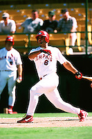 Albert Pujols of the Memphis Redbirds during the Triple A World Series at Cashman Field circa 1999 in Las Vegas, Nevada. (Larry Goren/Four Seam Images)