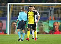 21.11.2017, Football UEFA Champions League 2017/2018,  , 5. match day, Borussia Dortmund - Tottenham Hotspur, Signal-Iduna-Park Dortmund. celebration goalschuetze Pierre-Emerick Aubameyang (mi., Dortmund)   1:0  *** Local Caption *** © pixathlon<br /> <br /> +++ NED + SUI out !!! +++<br /> Contact: +49-40-22 63 02 60 , info@pixathlon.de