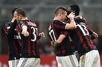 esultanza gol Alessio Romagnoli Milan Goal Celebration <br /> Milano 01-03-2016 - coppa Italia - Italy Cup Milan - Alessandria foto Matteo Gribaudi/Image Sport/Insidefoto