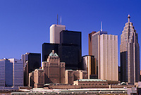 Toronto, Canada, Ontario, Skyline of downtown Toronto.