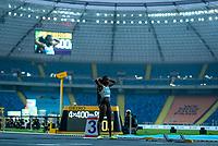 1st May 2021; Silesian Stadium, Chorzow, Poland; World Athletics Relays 2021. Day 1; Cynthia Bolingo pre race for Belgium in the 4 x 400 heats