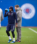 28.02.2020 Rangers training: Jermain Defoe and Steven Gerrard