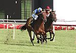 21 August 2010: ECLAIR DE LUNE and Jockey Junior Alvarado winning the 21st running of the G1 Beverly D at Arlington Park in Arlington Heights, Illinois.