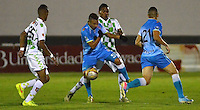 TUNJA -COLOMBIA, 8-NOVIEMBRE-2015. Accion de juego entre los equipos Boyacá Chico y Jaguares de Córdoba  partido por la fecha 19 de la Liga Aguila II 2015 jugado en el estadio La Independencia de Tunja  ./ Action game between Boyaca Chico and Jaguares de Cordoba  match between Boyaca Chico vs Jaguares de Cordoba  date 19 of the Aguila League II 2015 played at La Independencia  stadium in Tunja . Photo: VizzorImage / Cesar Melgarejo   / Contribuidor