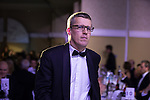 © Joel Goodman - 07973 332324 . 05/03/2015 .  Midland Hotel , Manchester , UK . Winner Jonathan Watkins of DLA Piper walks to the stage to collect his award . Corporate / Commercial Team of the Year . The Manchester Legal Awards 2015 . Photo credit : Joel Goodman