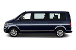 Car Driver side profile view of a 2020 Volkswagen Caravelle Highline 5 Door Passenger Van Side View