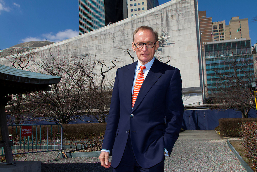 Australian Minister of Foreign Affairs Senator Bob Carr at UN Headquarters in New York. - photo by Trevor Collens