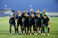WIENER NEUSTADT, AUSTRIA - MARCH 25: USMNT starting XI before a game between Jamaica and USMNT at Stadion Wiener Neustadt on March 25, 2021 in Wiener Neustadt, Austria.