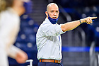 March 26, 2021; Volleyball head coach Mike Johnson (Photo by Matt Cashore/University of Notre Dame)