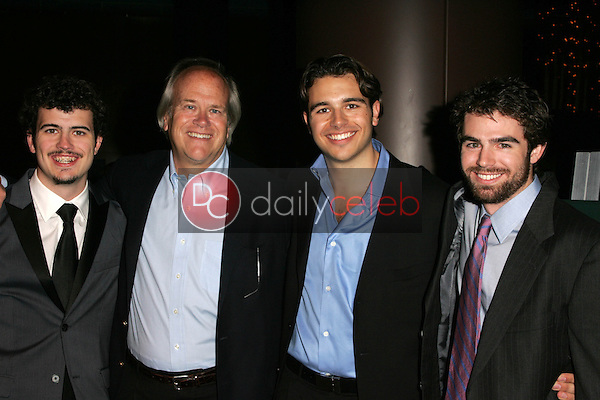 """Willie Ebersol and Dick Ebersol with Charlie Ebersol and Kip Kroeger<br />at the Los Angeles Premiere of """"Ithuteng"""". Director's Guild of America, Los Angeles, CA. 11-15-06<br />Dave Edwards/DailyCeleb.com 818-249-4998"""