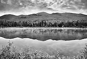 Northern Presidential Range from Durand Lake in Randolph, New Hampshire USA