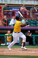 Erie SeaWolves Isaac Paredes (18) at bat during an Eastern League game against the Altoona Curve and on June 4, 2019 at UPMC Park in Erie, Pennsylvania.  Altoona defeated Erie 3-0.  (Mike Janes/Four Seam Images)