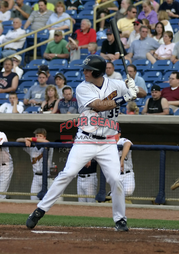 May 12, 2004:  Mike Conroy of the Lake County Captains, Low-A South Atlantic League affiliate of the Cleveland Indians, during a game at Classic Park in Eastlake, OH.  Photo by:  Mike Janes/Four Seam Images
