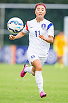 Thailand vs Korea Republic during the AFC U-19 Women's Championship China Group B match at the Jiangsu Training Base Stadium on 21 August 2015 in Nanjing, China. Photo by Aitor Alcalde / Power Sport Images