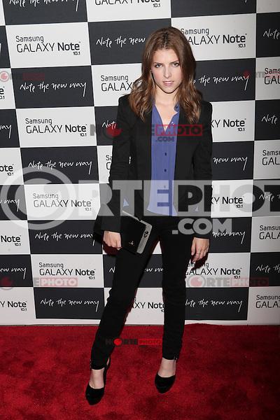 Anna Kendrick attends the Samsung Galaxy Note 10.1 Launch Event in New York City, August 15, 2012. ©Diego Corredor/MediaPunch Inc. /NortePhoto.com<br /> <br /> **CREDITO*OBLIGATORIO** *No*Venta*A*Terceros*<br /> *No*Sale*So*third* ***No*Se*Permite*Hacer*Archivo***No*Sale*So*third*