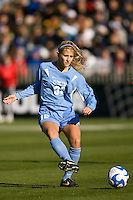 North Carolina Tar Heels defender Kristi Eveland (32). The North Carolina Tar Heels defeated the Notre Dame Fighting Irish 2-1 during the finals of the NCAA Women's College Cup at Wakemed Soccer Park in Cary, NC, on December 7, 2008. Photo by Howard C. Smith/isiphotos.com