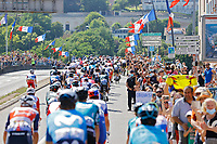 18th July 2021; Paris, France; Illustration of peloton during stage 21 of the 108th edition of the 2021 Tour de France cycling race, the stage of 108,4 kms between Chatou and finish at the Champs Elysees in Paris.