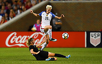 Cincinnati, OH - Tuesday September 19, 2017:  during an International friendly match between the women's National teams of the United States (USA) and New Zealand (NZL) at Nippert Stadium.