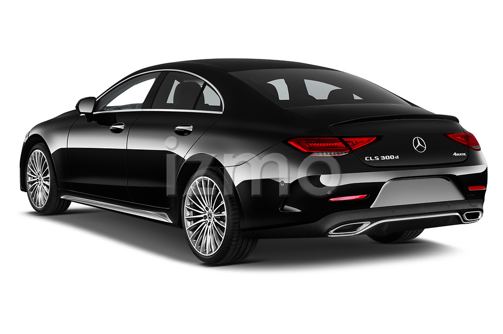 Car pictures of rear three quarter view of 2022 Mercedes Benz CLS-Coupe AMG-Line 4 Door Sedan Angular Rear