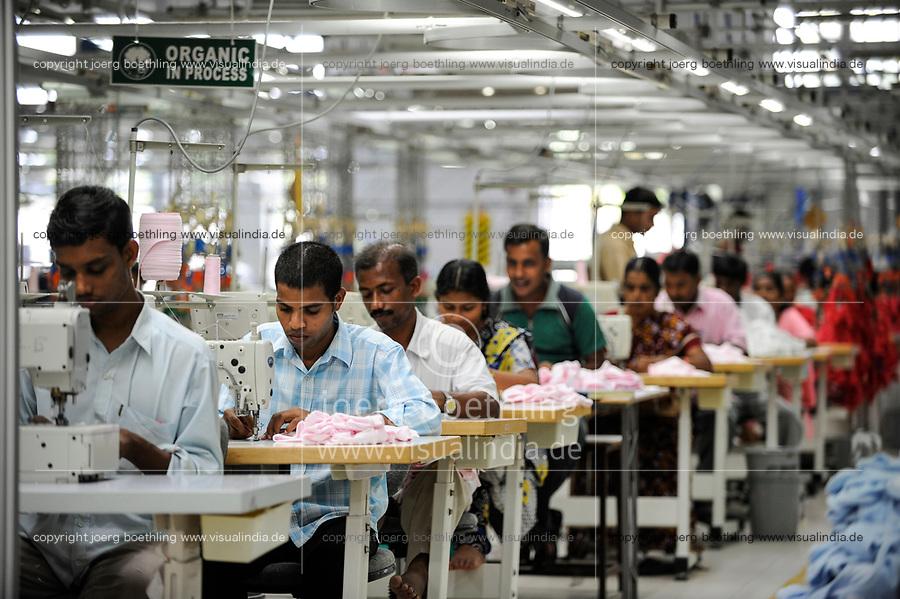 INDIA Tirupur , fair trade textile units , Century Apparels produces organic and fairtrade garments for Export / INDIEN Tamil Nadu, Tirupur,  fairtrade Textilbetriebe , Herstellung von oekologischen und fair gehandelten Textilien bei Century Apparels fuer den Export