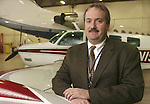 OXFORD, CT. 18 January  2004--011804SV01--Woodbury native David Blackburn  Jr. new president of Keystone Aviation Services Inc. at Oxford Airport.  Steven Valenti Photo<br />