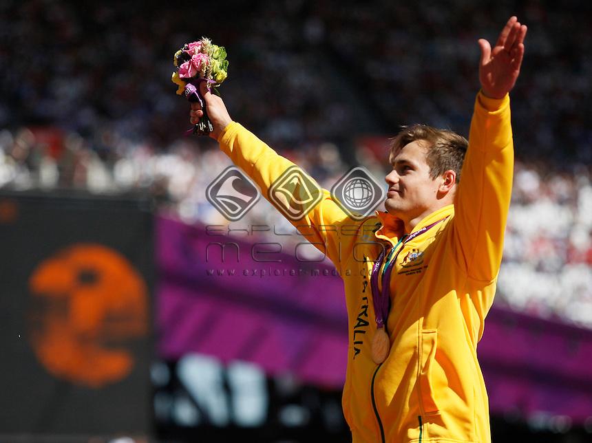 Evan O'Hanlon (AUS) Gold, Men's 200m - T38 Final.<br /> Athletics, Olympic Stadium (Saturday 8th Sept)<br /> Paralympics - Summer / London 2012<br /> London England 29 Aug - 9 Sept <br /> © Sport the library/Joseph Johnson