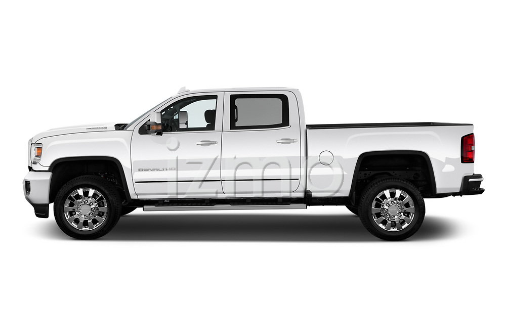 Car Driver side profile view of a 2019 GMC Sierra-2500 Denali 4 Door Pick-up Side View