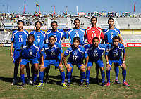 Honduras lines up during the quarterfinals of the CONCACAF Men's Under 17 Championship at Catherine Hall Stadium in Montego Bay, Jamaica. Jamaica defeated Honduras, 2-1.