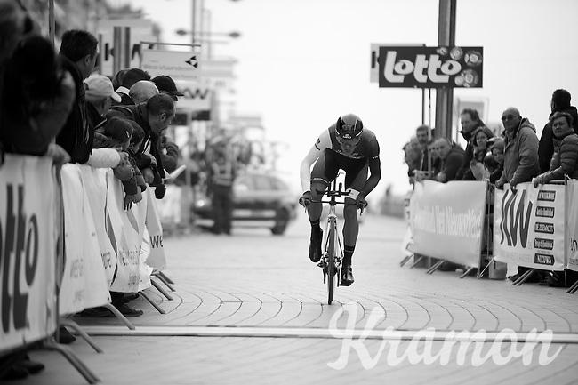 Jasper Stuyven (BEL) finishing<br /> <br /> 3 Days of West-Flanders 2014<br /> day 1: TT/prologue Middelkerke 7,0 km