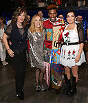 Kathy Valentine, Charlotte Caffey, Justin Prescott and Jane Wiedlin during the Broadway Opening Night Performance Actors' Equity Legacy Robe honoring Justin Prescott at the Hudson Theatre on July 26, 2018 in New York City.