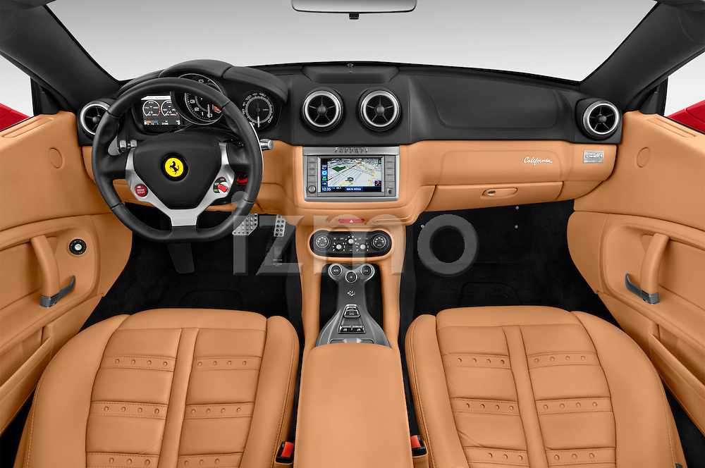 Interior dashboard view of a 2014 Ferrari California Convertible