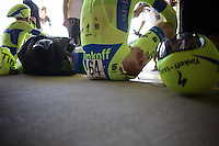 Christopher Juul-Jensen (DEN/Tinkoff-Saxo) seriously bruised in a +50km/h crash<br /> <br /> Elite Men's Team Time Trial<br /> UCI Road World Championships Richmond 2015 / USA