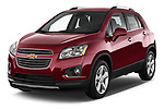 2015 Chevrolet Trax LTZ 5 Door SUV Angular Front stock photos of front three quarter view