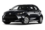 Stock pictures of low aggressive front three quarter view of 2020 Toyota Yaris Dynamic 5 Door Hatchback Low Aggressive