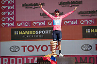 Richard Carapaz (ECU/Movistar) wins the 102nd Giro d'Italia <br /> (on a new Trofeo Senza Fine prostetic?)<br /> <br /> Stage 21 (ITT): Verona to Verona (17km)<br /> 102nd Giro d'Italia 2019<br /> <br /> ©kramon