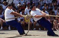 """Europe/France/Aquitaine/64/Pyrénées-Atlantiques/Saint- Palais: Festival """"Force Basque"""" - Epreuve du tir à la corde"""