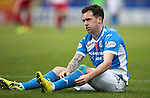 St Johnstone v Kilmarnock…15.10.16.. McDiarmid Park   SPFL<br />A frustrated Danny Swanson<br />Picture by Graeme Hart.<br />Copyright Perthshire Picture Agency<br />Tel: 01738 623350  Mobile: 07990 594431