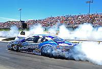 May 22, 2011; Topeka, KS, USA: NHRA pro stock driver Allen Johnson during the Summer Nationals at Heartland Park Topeka. Mandatory Credit: Mark J. Rebilas-