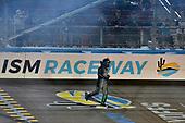 #16: Brett Moffitt, Hattori Racing Enterprises, Toyota Tundra KOBE celebrates his win