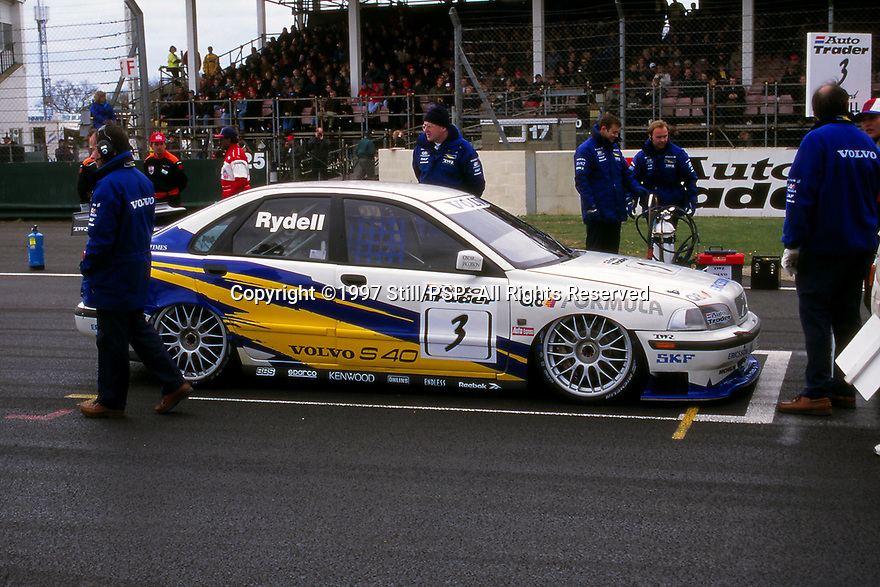 Silverstone round of the 1997 British Touring Car Championship. #3 Rickard Rydell (S). Volvo S40 Racing. Volvo S40.