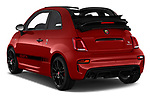 Car pictures of rear three quarter view of a 2018 Abarth 595 C Competizione 2 Door Convertible angular rear