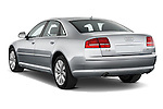 Rear three quarter view of a 2010 Audi A8 4 Door Sedan 4WD