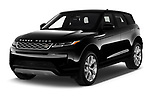 2020 Land Rover Range-Rover-Evoque SE 5 Door SUV Angular Front automotive stock photos of front three quarter view