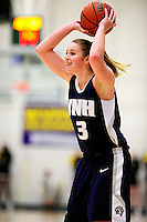 31 January 2010: University of New Hampshire Wildcats' guard Cari Reed, a Freshman from Oswego, NY, in action against the University of Vermont Catamounts at Patrick Gymnasium in Burlington, Vermont. The Lady Catamounts defeated the visiting Wildcats 78-64. Mandatory Credit: Ed Wolfstein Photo