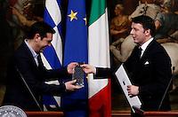20150203 ROMA-ESTERI: RENZI INCONTRA IL PRIMO MINISTRO GRECO TSIPRAS A PALAZZO CHIGI